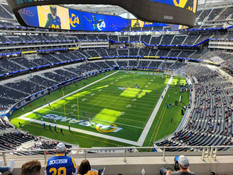 Seating view for SoFi Stadium Section 339 Row 5 Seat 13
