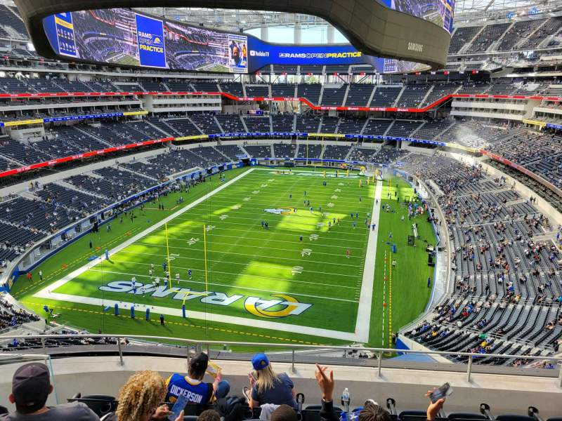Seating view for SoFi Stadium Section 338 Row 6 Seat 10