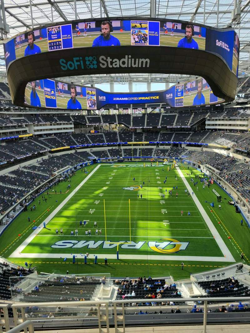 Seating view for SoFi Stadium Section 337 Row 6 Seat 24