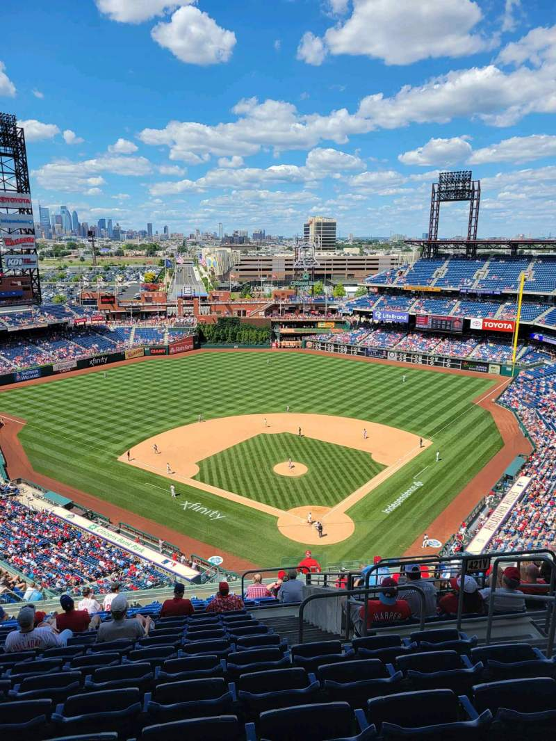 Seating view for Citizens Bank Park Section 422 Row 16 Seat 5