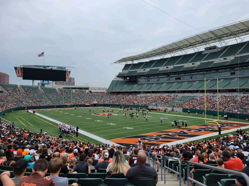 Seating view for Paul Brown Stadium Section 131 Row 32 Seat 1