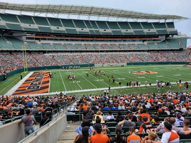 Seating view for Paul Brown Stadium Section 114 Row 32w Seat 15