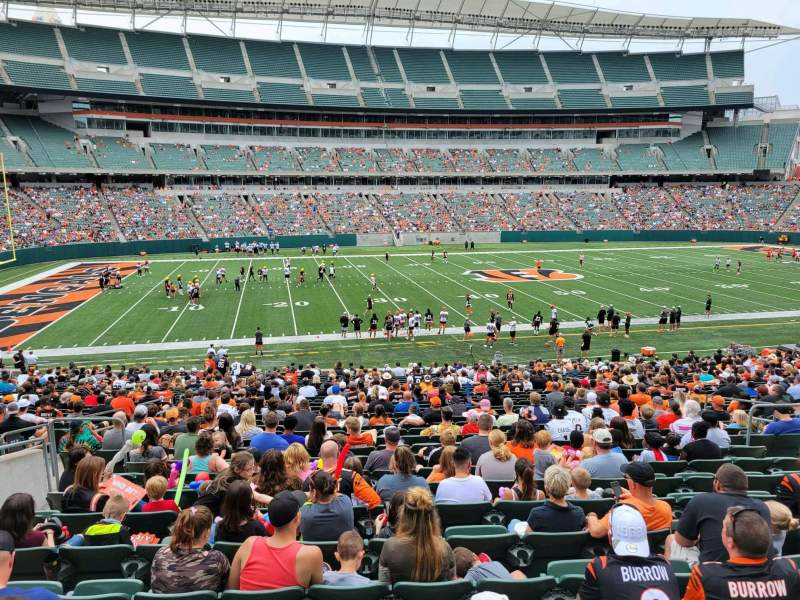 Seating view for Paul Brown Stadium Section 112 Row 32w Seat 11