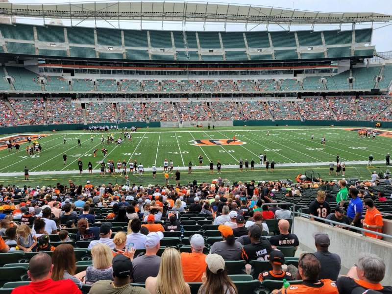 Seating view for Paul Brown Stadium Section 111 Row 32w Seat 6