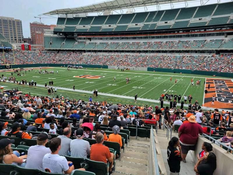 Seating view for Paul Brown Stadium Section 106 Row 32w Seat 2