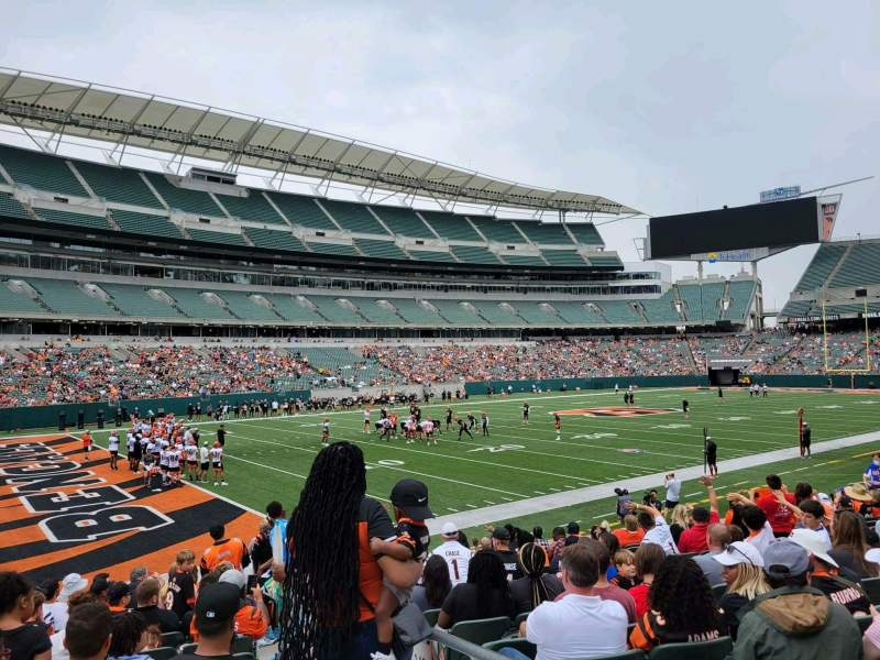 Seating view for Paul Brown Stadium Section 148 Row 13 Seat 1