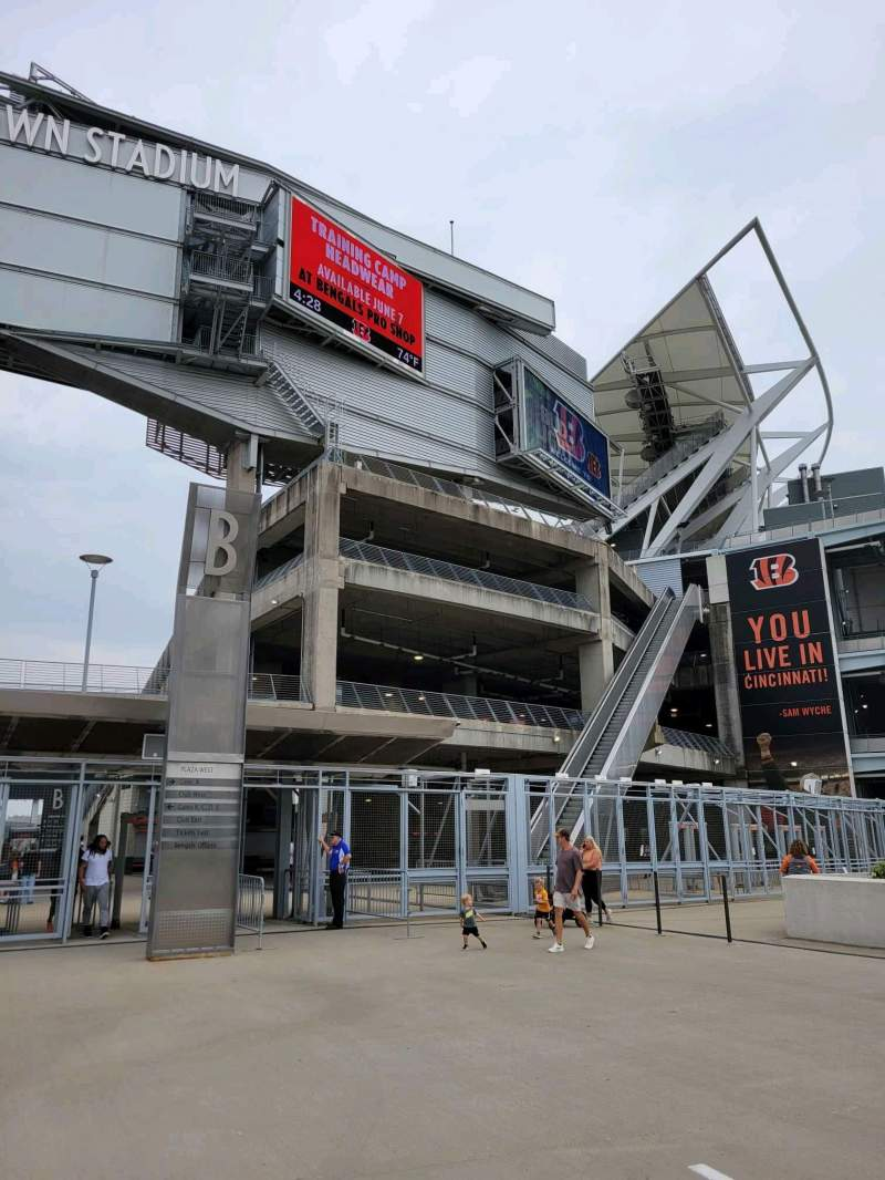 Seating view for Paul Brown Stadium Section Gate B