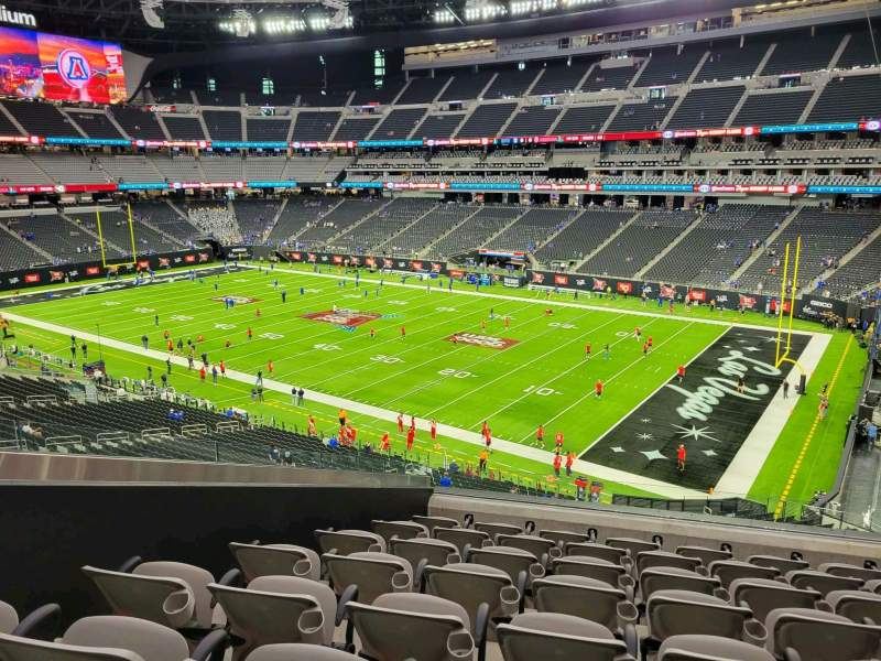Seating view for Allegiant Stadium Section 208 Row 8 Seat 5