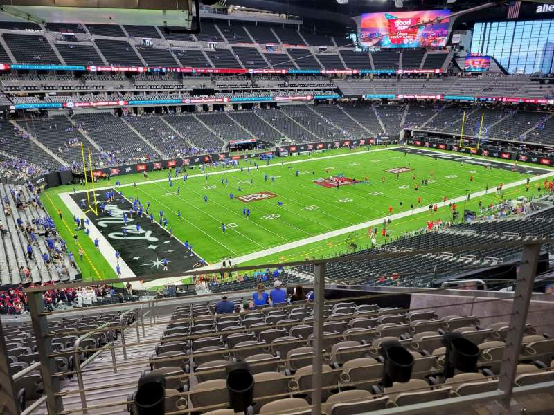 Seating view for Allegiant Stadium Section 218 Row 15A Seat 8