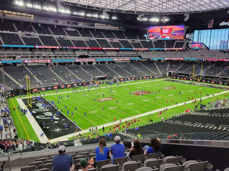 Seating view for Allegiant Stadium Section 218 Row 10 Seat 6