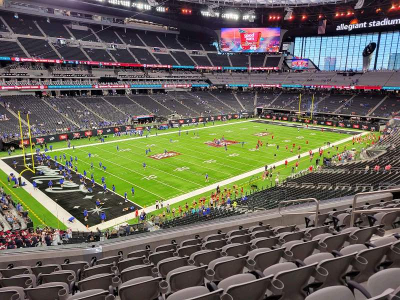 Seating view for Allegiant Stadium Section 219 Row 8 Seat 8