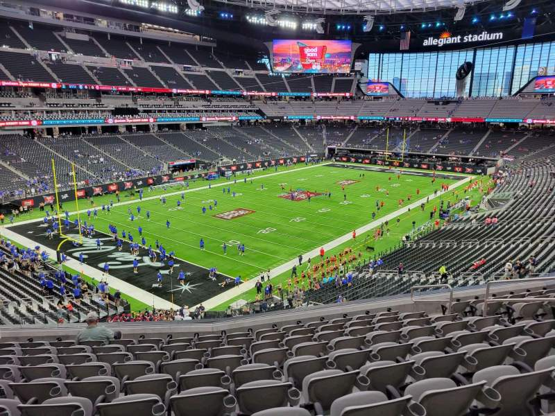 Seating view for Allegiant Stadium Section 220 Row 10 Seat 10