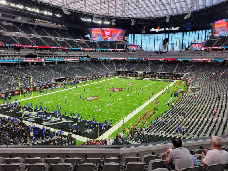 Seating view for Allegiant Stadium Section 221 Row 7 Seat 10