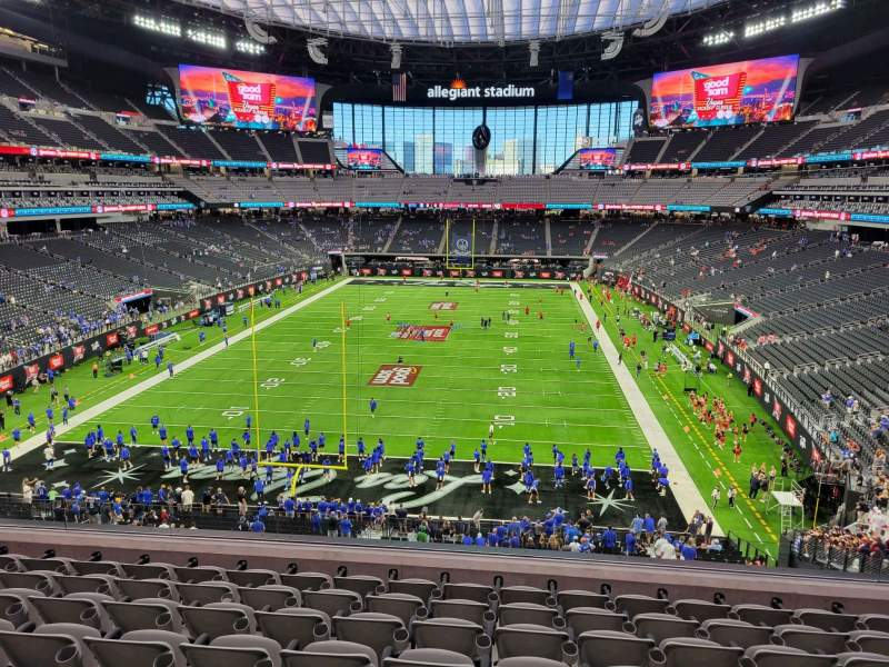 Seating view for Allegiant Stadium Section 224 Row 8 Seat 12