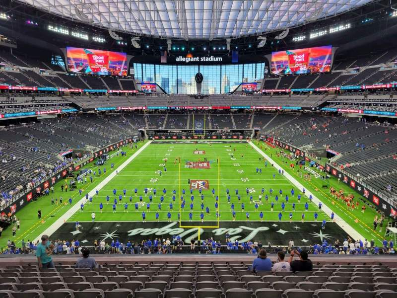 Seating view for Allegiant Stadium Section 225 Row 12 Seat 12