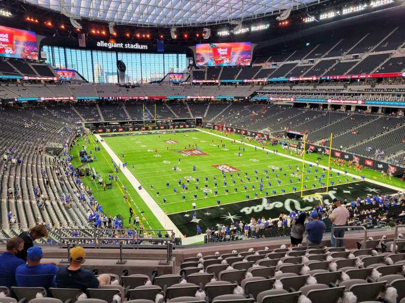 Seating view for Allegiant Stadium Section 228 Row 10 Seat 10