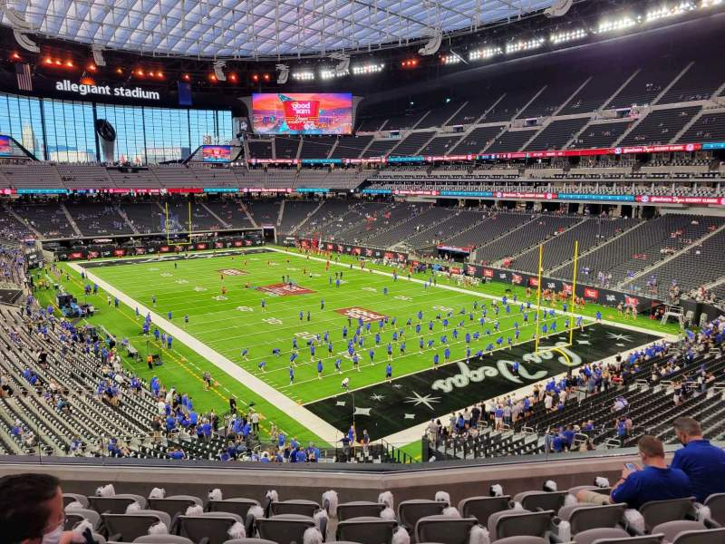 Seating view for Allegiant Stadium Section 229 Row 7 Seat 10