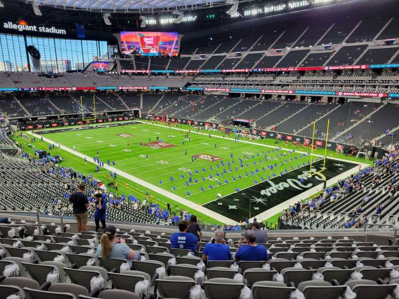 Seating view for Allegiant Stadium Section 230 Row 11 Seat 10