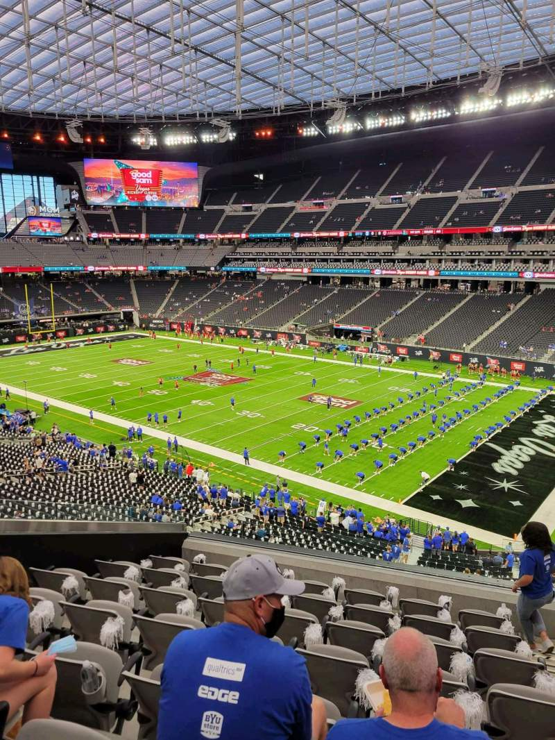 Seating view for Allegiant Stadium Section 232 Row 8 Seat 2