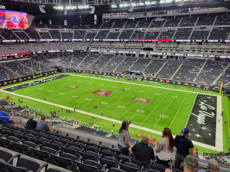 Seating view for Allegiant Stadium Section 308 Row 7 Seat 10