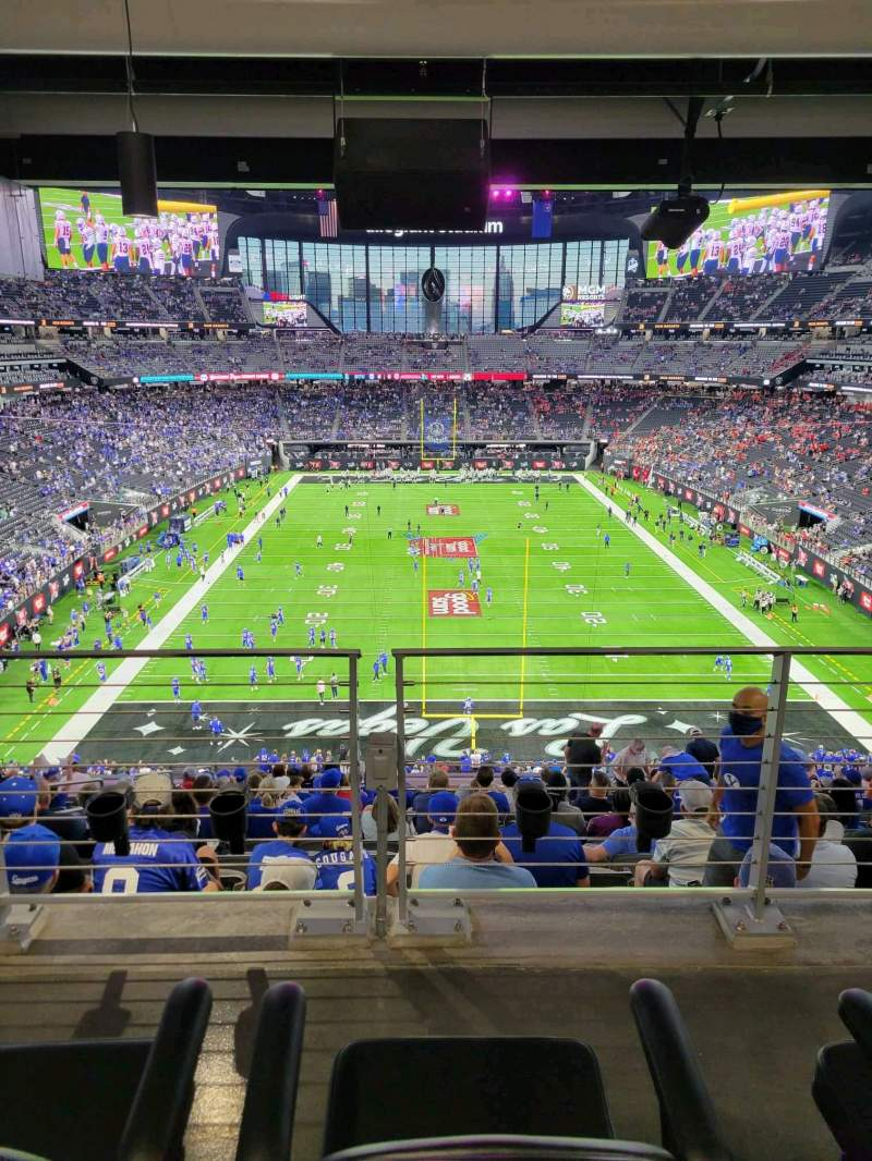 Seating view for Allegiant Stadium Section 225 Row 15A Seat 13