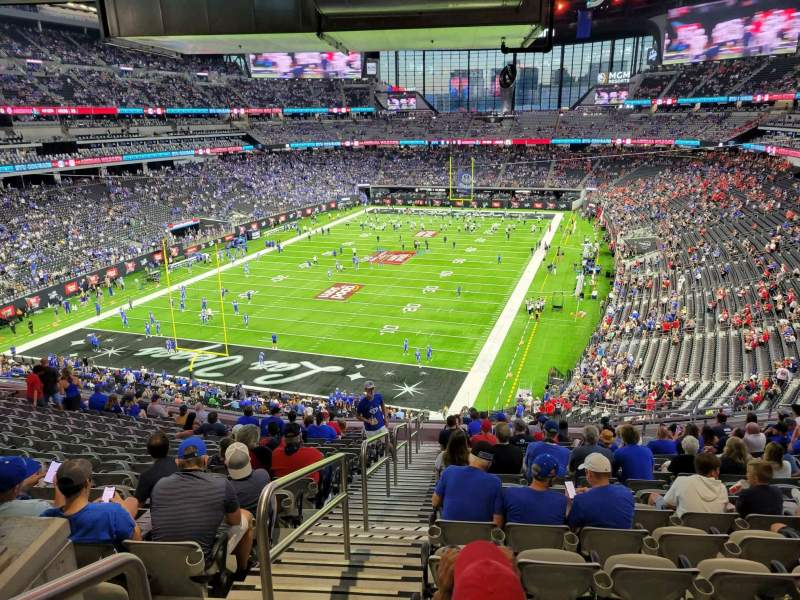 Seating view for Allegiant Stadium Section 222 Row 17 Seat 21