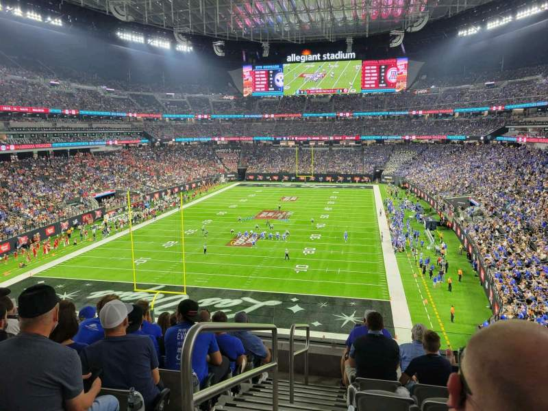 Seating view for Allegiant Stadium Section 247 Row 7 Seat 22