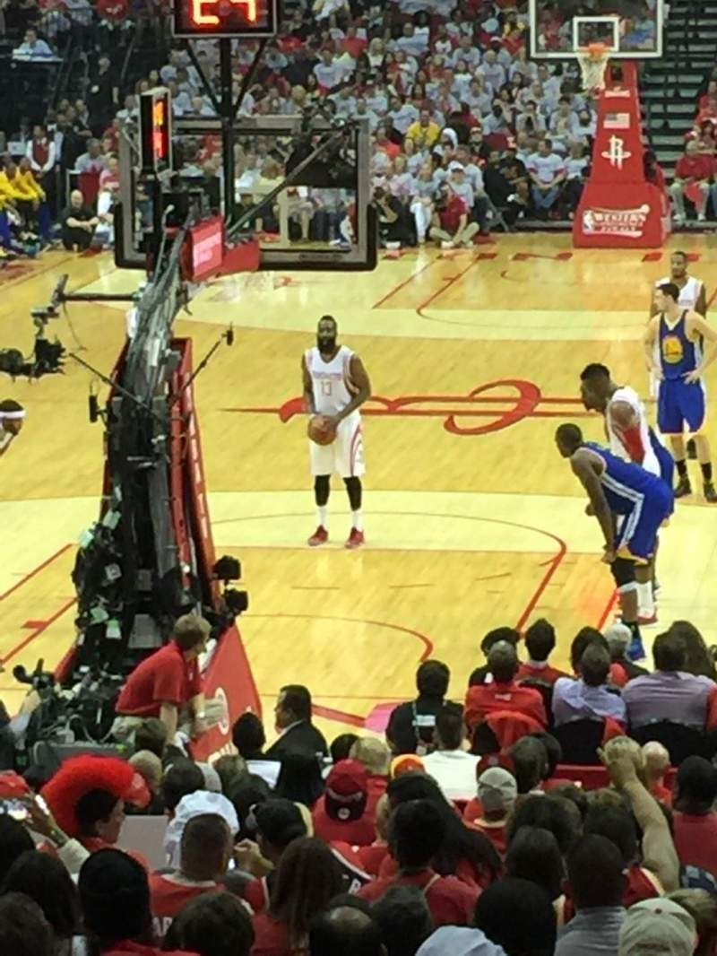 Seating view for Toyota Center Section 113 Row 16 Seat 9