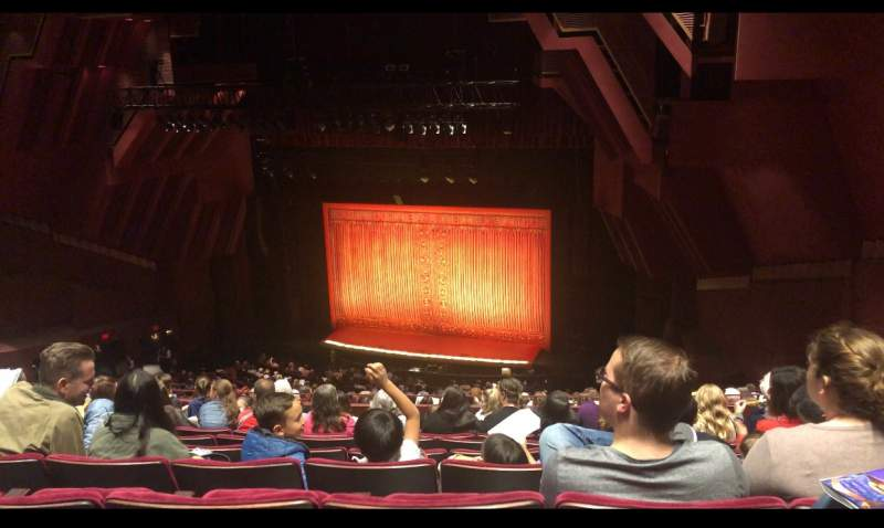 Seating view for Segerstrom Hall Section Loge Row R Seat 112,113