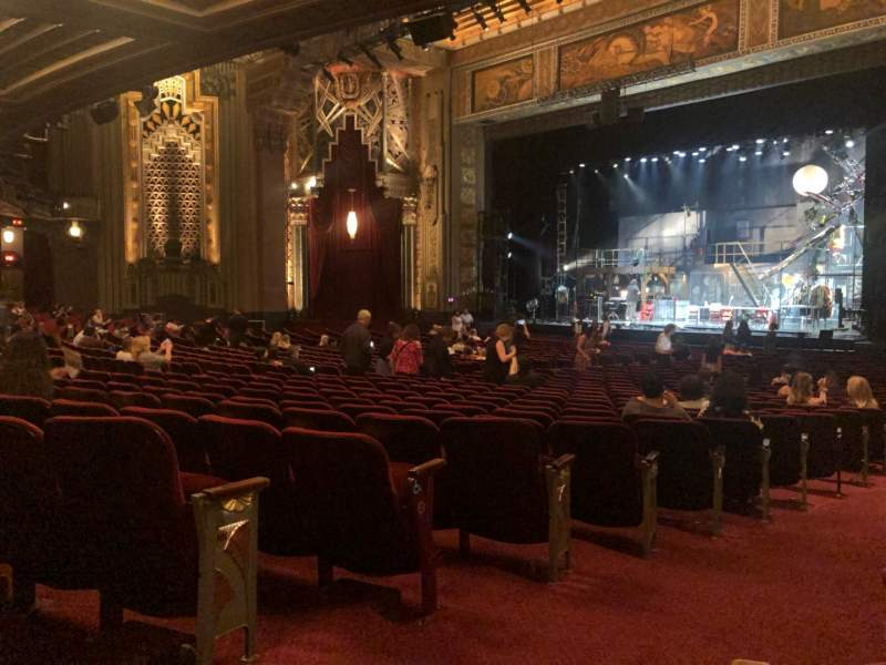 Seating view for Hollywood Pantages Theatre Section Orchestra R Row QQ Seat 2