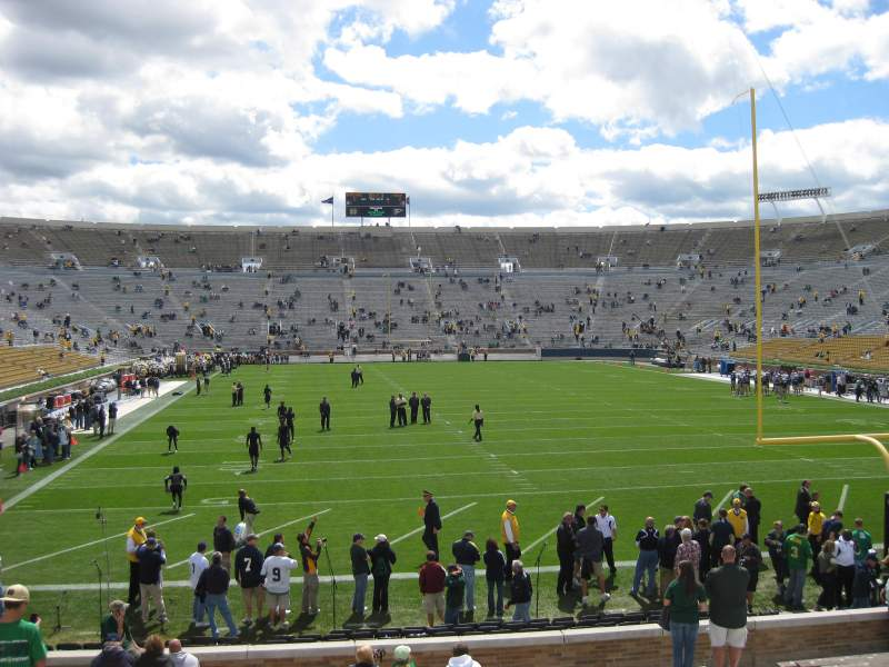 Seating view for Notre Dame Stadium Section 2 Row 45 Seat 15