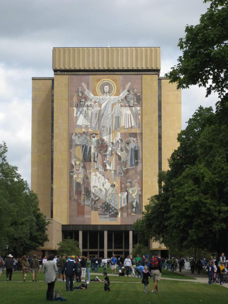 Seating view for Notre Dame Section Touchdown Jesus