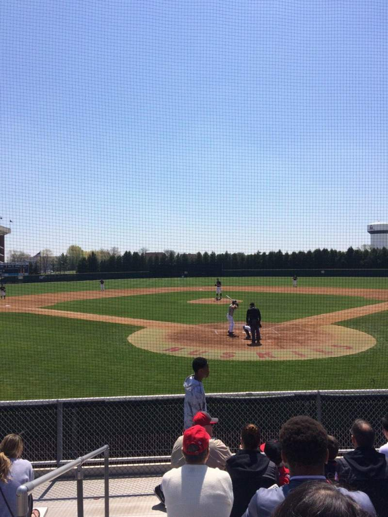 Seating view for Ralph Mckenzie Field Section General Row 8 Seat 1