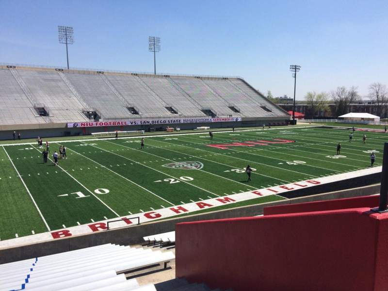 Seating view for Huskie Stadium Section G Row 19 Seat 5