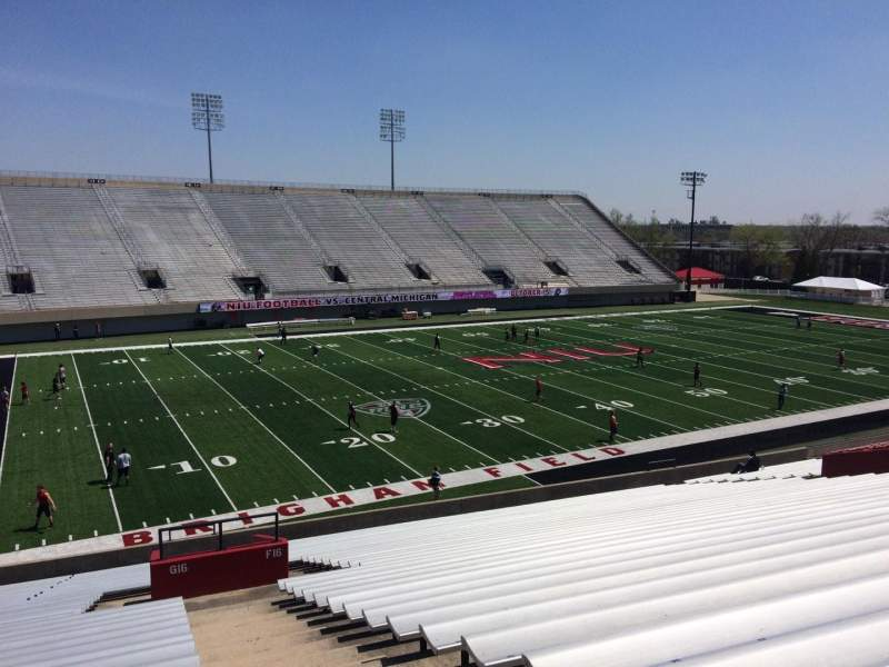 Seating view for Huskie Stadium Section G Row 34 Seat 1