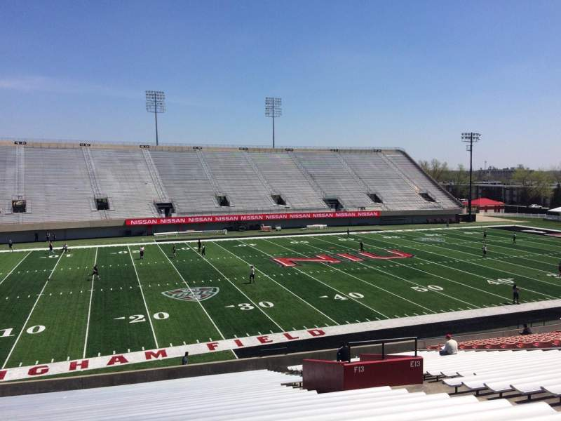 Seating view for Huskie Stadium Section F Row 29 Seat 10