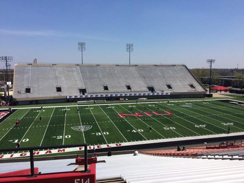 Seating view for Huskie Stadium Section E Row 46 Seat 38