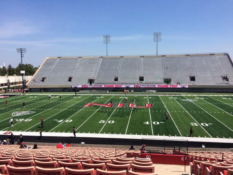 Seating view for Huskie Stadium Section D Row 25 Seat 1