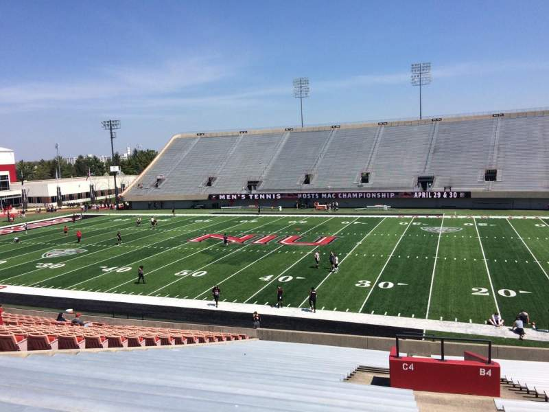Seating view for Huskie Stadium Section C Row 32 Seat 1