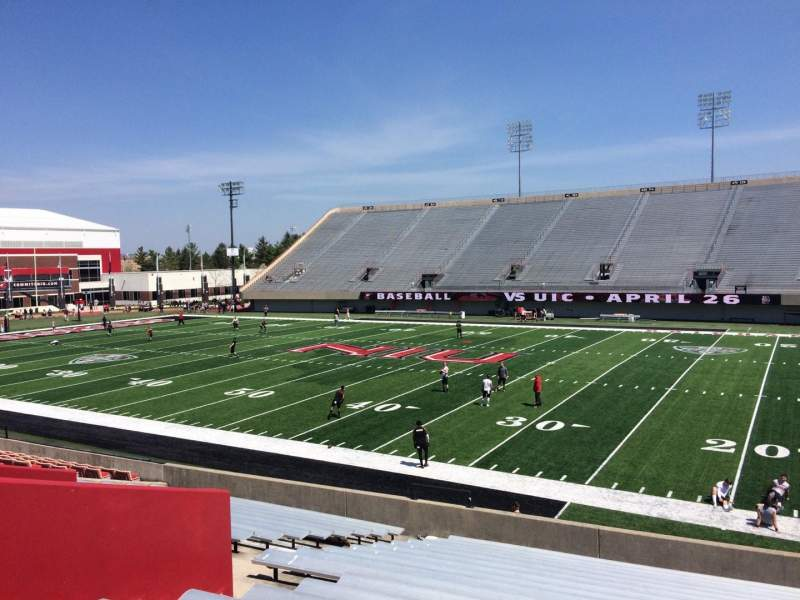 Seating view for Huskie Stadium Section B Row 19 Seat 26