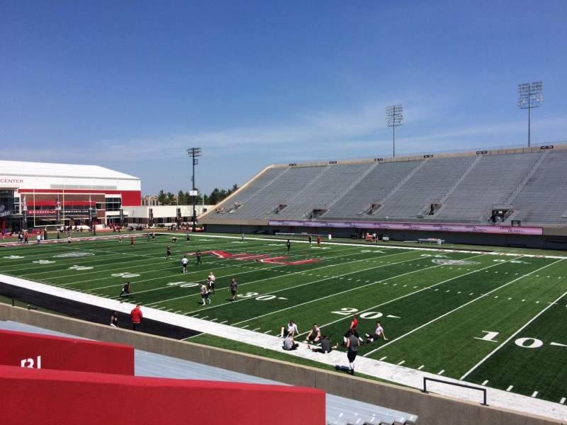 Seating view for Huskie Stadium Section A Row 17 Seat 16