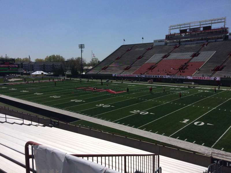 Seating view for Huskie Stadium Section I Row 18 Seat 16