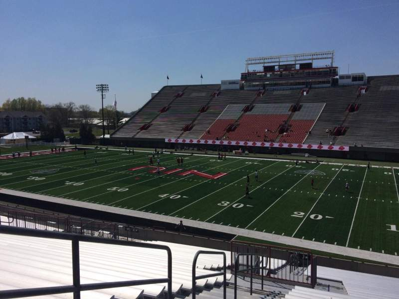 Seating view for Huskie Stadium Section J Row 31 Seat 18