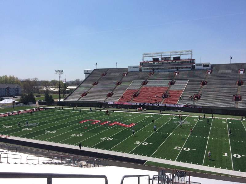 Seating view for Huskie Stadium Section J Row 41 Seat 17