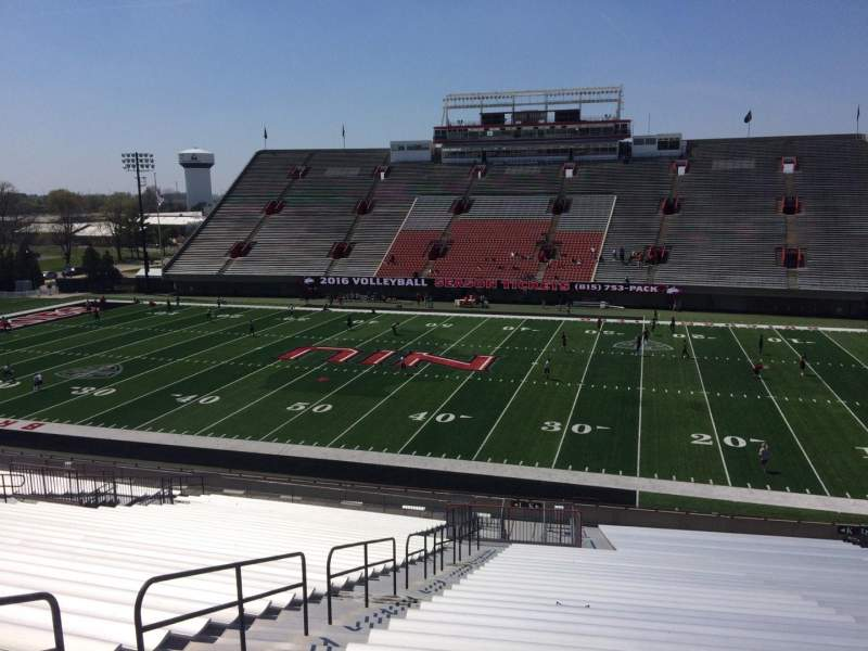 Seating view for Huskie Stadium Section K Row 42 Seat 13