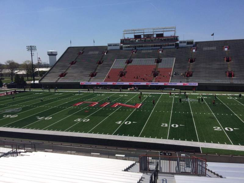Seating view for Huskie Stadium Section K Row 28 Seat 14