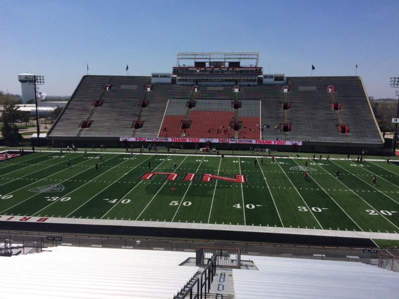 Seating view for Huskie Stadium Section L Row 45 Seat 12