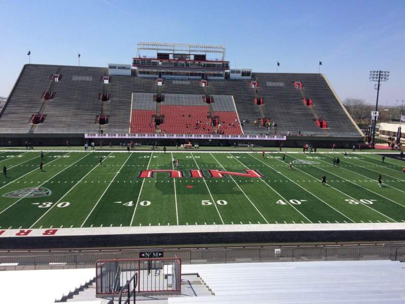 Seating view for Huskie Stadium Section M Row 30 Seat 18