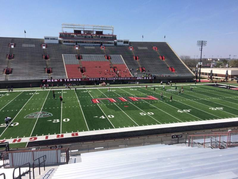 Seating view for Huskie Stadium Section N Row 30 Seat 18