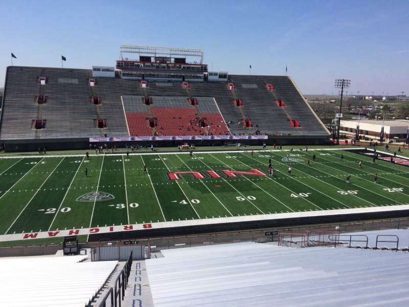 Seating view for Huskie Stadium Section N Row 45 Seat 18
